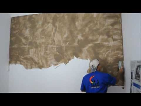 Phim video clip chalix decor efecto stucco lucido for Pintura decorativa efeito marmore