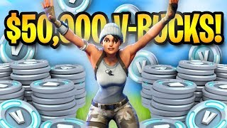 50,000 V-BUCKS FORTNITE GIVEAWAY!