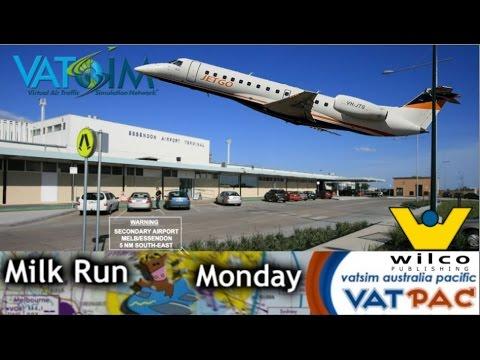 JetGo Australia Wilco E135 flies Dubbo to Essendon on Vatsim Milkrun