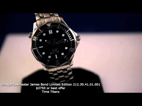 PLANET OCEAN Quantum Of Solace James Bond 007 Limited Edition Watch