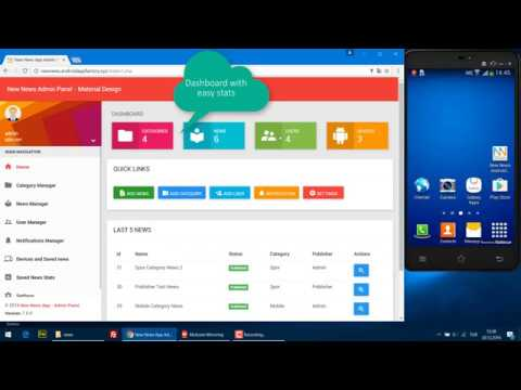 New News Android App and Admin Panel Tutorials
