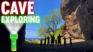Hiding in a Huge Cave!! Trying Not to Lose My Kids!!!
