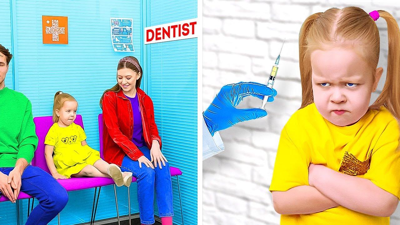 Doctor VS Kids🧑🏻⚕️👧🏻💉 Genius Hacks and DIYs For Smart Parents