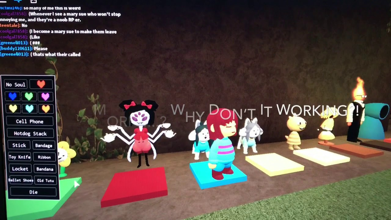 Invisible Glitch In Roblox Undertale Rp Wip Youtube