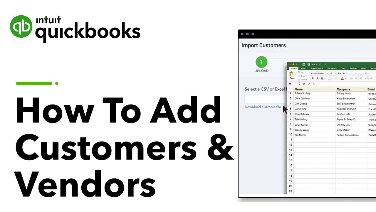 How to Add Customer Information Into QuickBooks