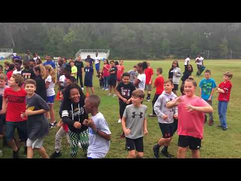 Jacksonville Jaguars Play 60 Football Camp at Jane Macon Middle School