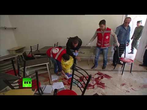 Трое детей погибли на месте при обстреле школы в Алеппо