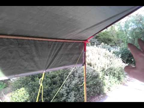Wall tent with wood frame angle kit funnydog tv for Build your own canopy frame