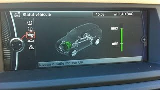 Comment mesurer le niveau d'huile moteur pour BMW Série 1 et Série 4