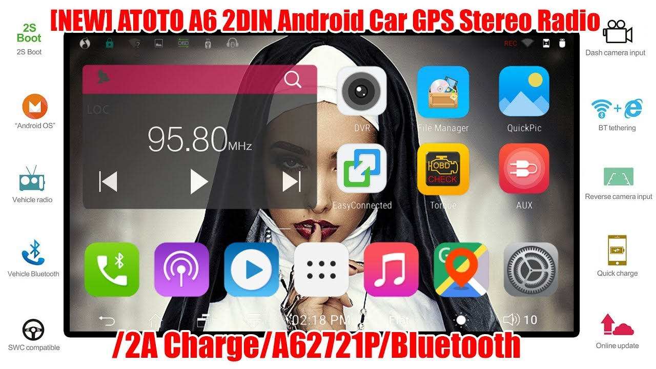 [NEW] Premiun A62721PB 2G/32G ATOTO A6 2DIN Android Car Navigation Stereo  Dual Bluetooth Unboxing