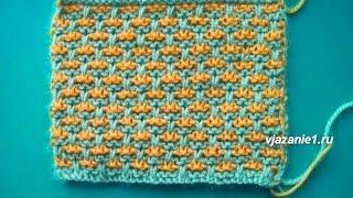 Цветной узор. Вязание спицами