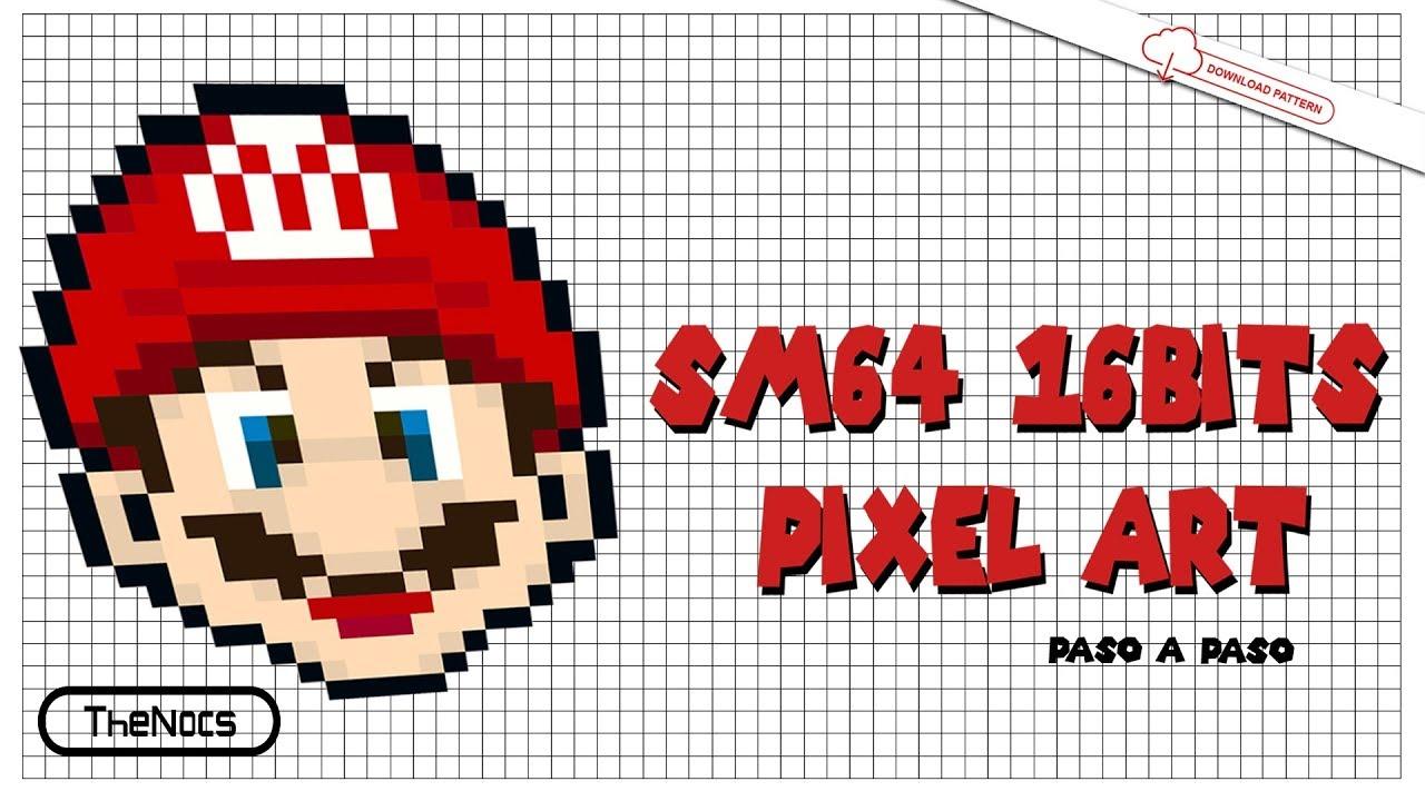 Mario 64 Pixel Art 16 Bits | SM64 16 Bits Versión Speed Art ...