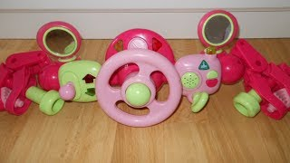 ELC PINK Buggy Driver Steering Wheel Musical Sound Light Pushchair Buggy £30.00