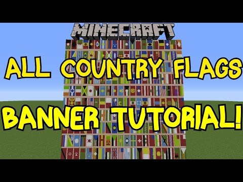 Minecraft 1.8 | All Country Flags On Banner Tutorial! | 200