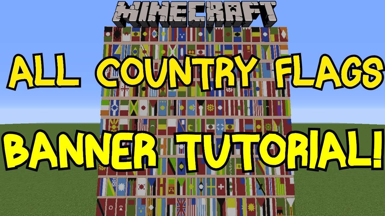 Minecraft 1 8 All Country Flags On Banner Tutorial 200 Flags