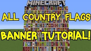Minecraft 1.8   All Country Flags On Banner Tutorial!   200 Flags!