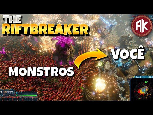 """Testeando """"The Riftbreaker"""" - Jogo de Fazer Base e Matar Hordas de Inimigos."""