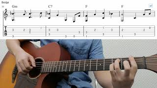 From Me To You (The Beatles) - Easy Fingerstyle Guitar Playthrough Tutorial With Tab