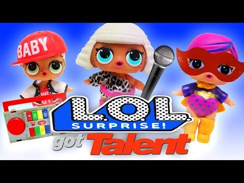 LOL Surprise Dolls Got Talent! Sugar Queen, Dollface, MC Swag, and Curious QT put on a Talent Show!