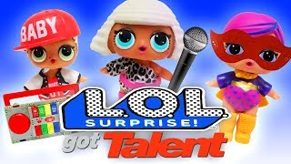LOL Surprise Dolls Got Talent! Sugar Queen, Dollface, MC Swag, and Curious QT put on a Talent Show!