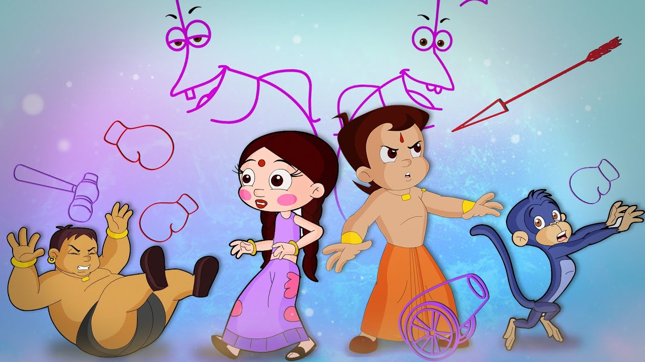Chhota Bheem - Lost in the World of Lines | Cartoons for Kids in Hindi | Funny Kids Videos