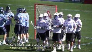 2016 North Carolina vs Johns Hopkins Lacrosse Highlights