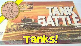 Tank Battle Board Game No. 4508, 1975 Milton Bradley - Tank Against Gun