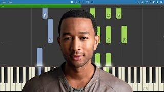 I Know Better Piano Parts Only - Piano Tutorial - John Legend