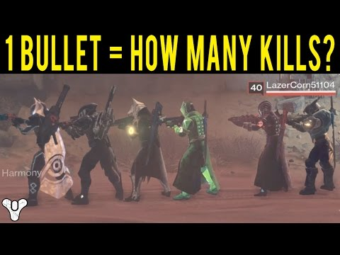HOW MANY KILLS CAN YOU GET USING ONLY 1 BULLET WITH A SNIPER IN DESTINY?