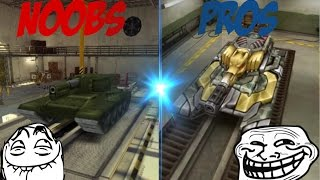 Tanki Online PROS VS NOOBS (Funny Video)