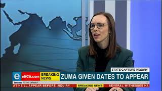 Zuma given dates to appear at the Zondo commission
