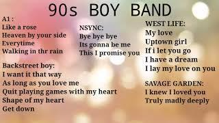 90s BOY BAND MUSIC HIT
