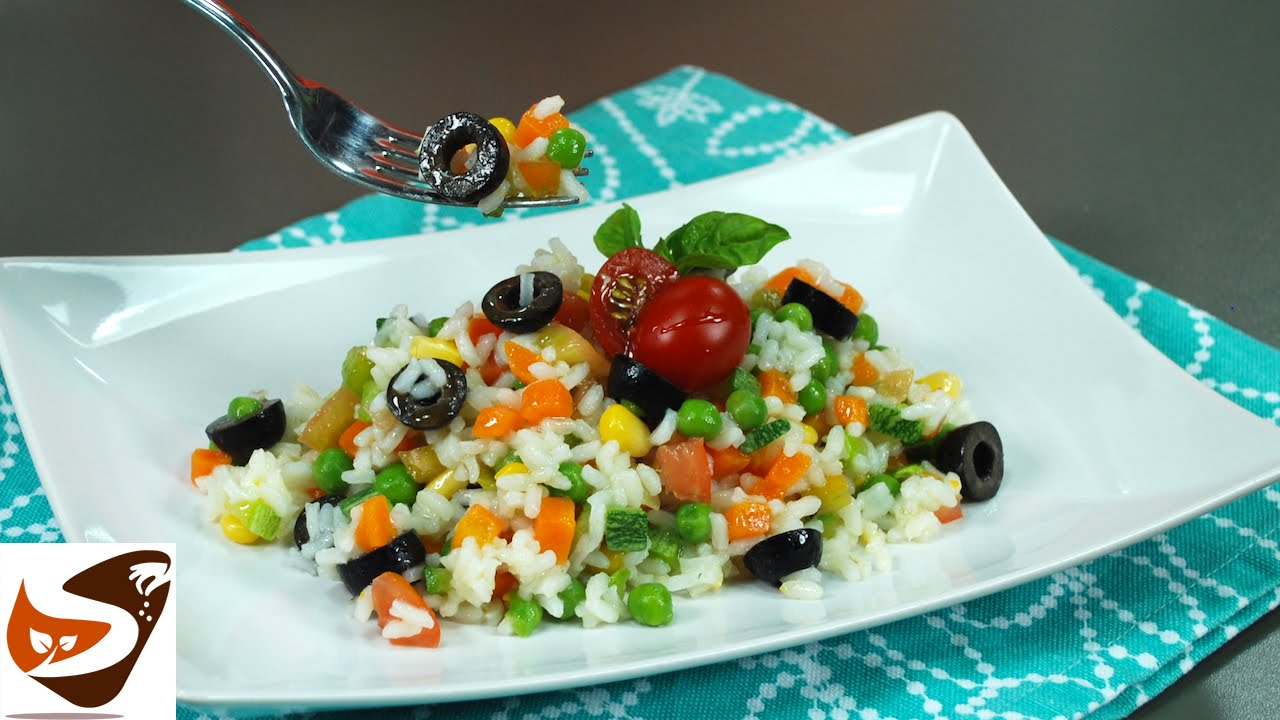 Insalata di riso con verdure fresche gustosissima for Insalate ricette