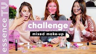 mixed makeup challenge deutsch - EXTREME edition - das gesicht voll lippenstift 😂 😁 l essenceTV
