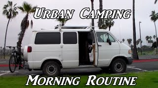 Urban Camping Morning Routine VanLife On the Road