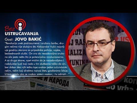 BEZ USTRUČAVANJA - Jovo Bakić: Ovaj politički sistem ne može da se popravi, može samo da se sruši!