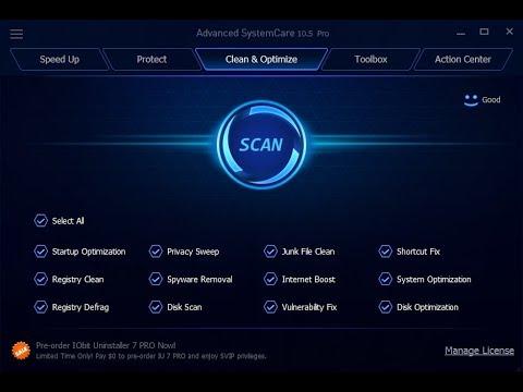 Advanced System Care Pro 10.5.0.870 + serial key عملاق اصلاح وتسريع الكمبيوتر