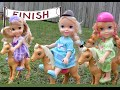 Anna and Elsa Toddlers Pony Horse Riding Frozen Annya and Elsya Barbie Majesty's Big Race Horse Toy