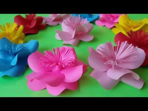 Cara Membuat Bunga Dari Kertas Sangat Mudah Kerajinan Sederhana Youtube