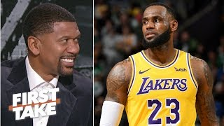 LeBron more likely to win an Emmy than an NBA title with the Lakers - Jalen Rose | First Take