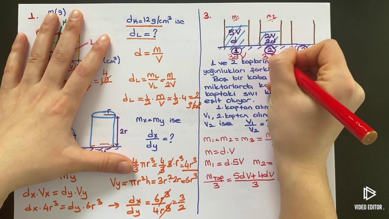 9.Sınıf Fizik Özkütle Soru Çözümü