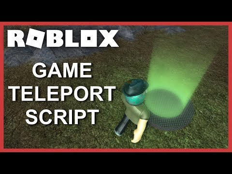 [ROBLOX Tutorial] - Game Teleport Script (Teleport to other Games or Places)
