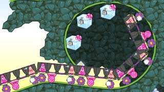 Bad Piggies - PIGS CLIMBING WALL TO CATCH 3 TREASURE CRATE!