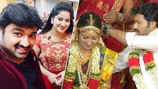 Priyamanaval Fame 'Avanthika' Sivaranjani gets Married with the Reel Pair