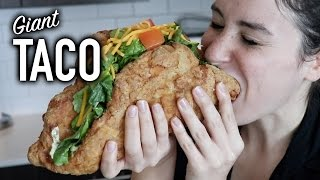 DIY GIANT NAKED CHICKEN TACO (CHALUPA)
