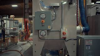 Twin Spindle Automated Grit Blasting Machine for Medical Implants