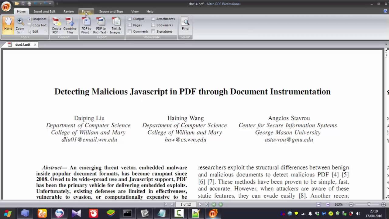 A Pdf File Using Javascript