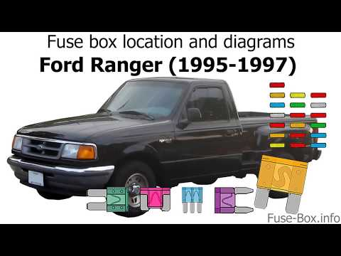 [SCHEMATICS_43NM]  Fuse box location and diagrams: Ford Ranger (1995-1997) - YouTube | 96 Ford Ranger Truck Fuse Diagram |  | YouTube