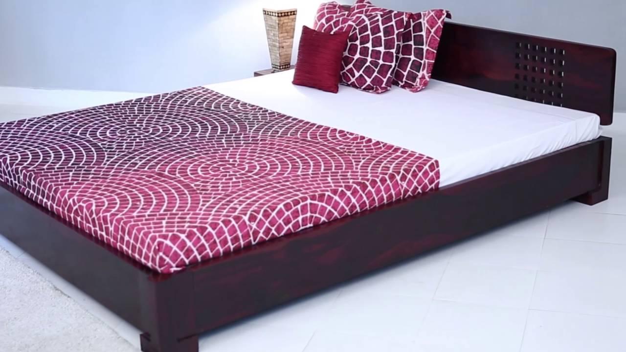 Floor Bed Part - 21: Bed Online - Damon Low Floor Bed Online In India @ Wooden Street