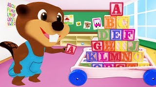 Kids Learn Colors & ABCs with Alphabet Wooden Blocks & Surprise Eggs, ABC Song for Children Toddlers